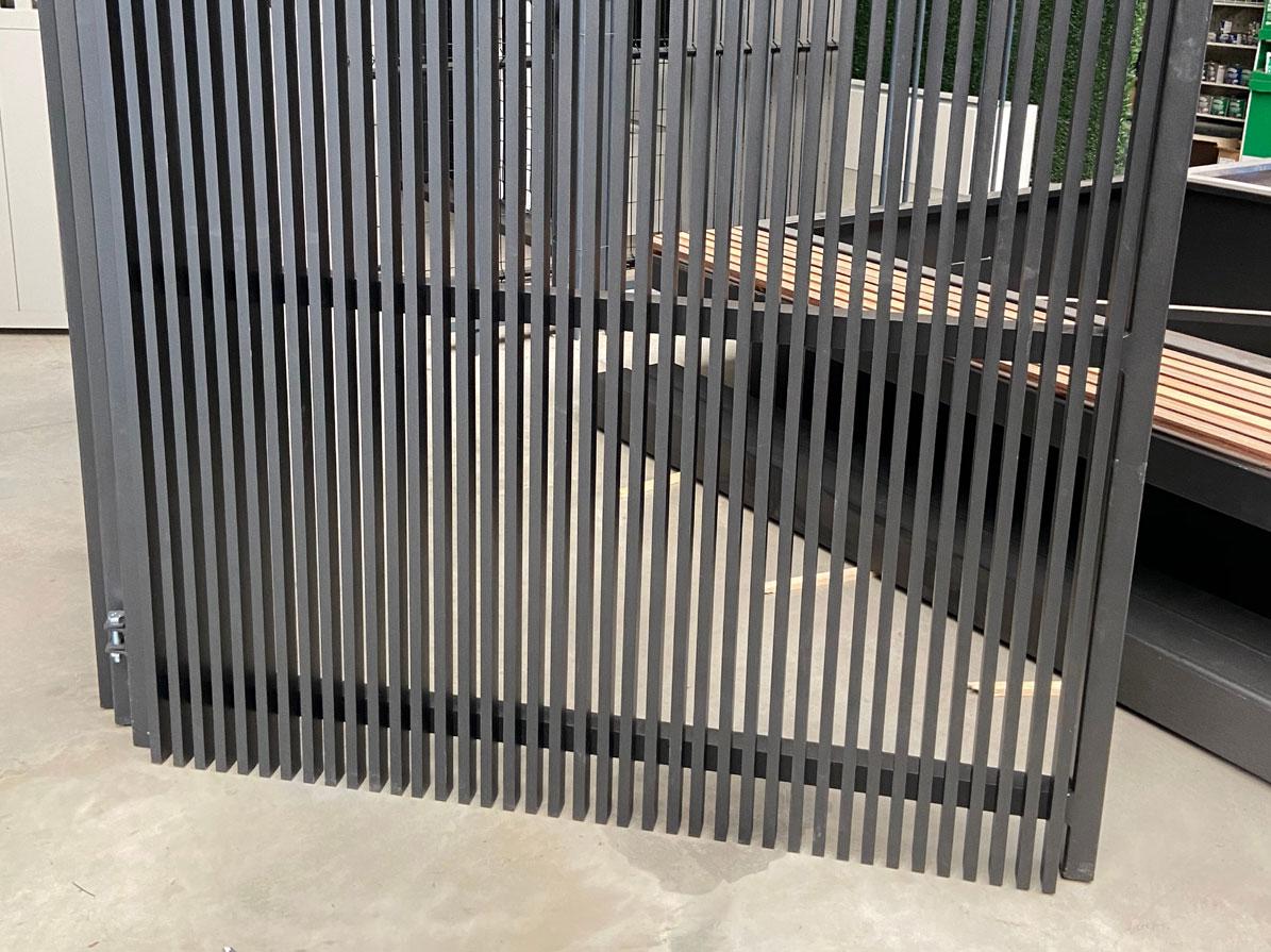 Aluminium-poort